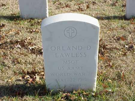 LAWLESS (VETERAN WWII), ORLAND D - Pulaski County, Arkansas | ORLAND D LAWLESS (VETERAN WWII) - Arkansas Gravestone Photos