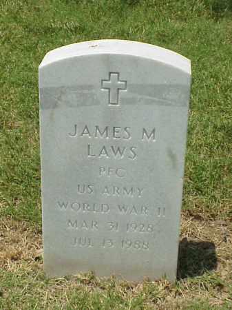 LAWS (VETERAN WWII), JAMES M - Pulaski County, Arkansas | JAMES M LAWS (VETERAN WWII) - Arkansas Gravestone Photos