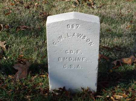 LAWSON (VETERAN CSA), G W - Pulaski County, Arkansas | G W LAWSON (VETERAN CSA) - Arkansas Gravestone Photos