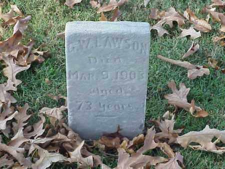 LAWSON (VETERAN CSA), G W - Pulaski County, Arkansas | G W LAWSON (VETERAN CSA) - Arkansas Gravestone Photos