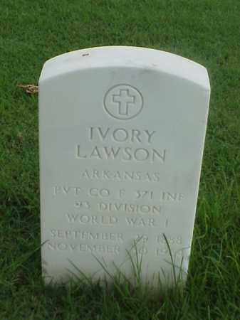 LAWSON (VETERAN WWI), IVORY - Pulaski County, Arkansas | IVORY LAWSON (VETERAN WWI) - Arkansas Gravestone Photos