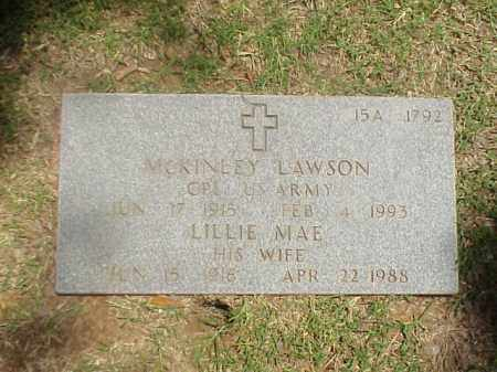 LAWSON (VETERAN WWII), MCKINLEY - Pulaski County, Arkansas | MCKINLEY LAWSON (VETERAN WWII) - Arkansas Gravestone Photos