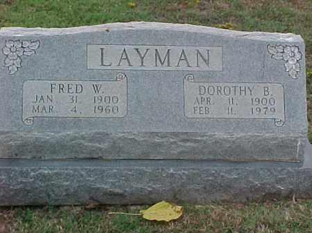LAYMAN, DOROTHY B - Pulaski County, Arkansas | DOROTHY B LAYMAN - Arkansas Gravestone Photos