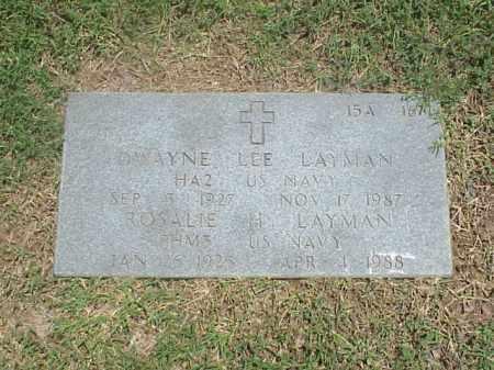 LAYMAN (VETERAN WWII), DWAYNE LEE - Pulaski County, Arkansas | DWAYNE LEE LAYMAN (VETERAN WWII) - Arkansas Gravestone Photos