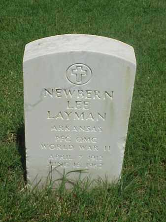 LAYMAN (VETERAN WWII), NEWBERN LEE - Pulaski County, Arkansas | NEWBERN LEE LAYMAN (VETERAN WWII) - Arkansas Gravestone Photos