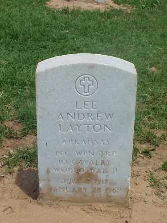 LAYTON (VETERAN WWII), LEE ANDREW - Pulaski County, Arkansas | LEE ANDREW LAYTON (VETERAN WWII) - Arkansas Gravestone Photos