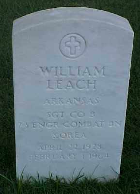 LEACH (VETERAN KOR), WILLIAM - Pulaski County, Arkansas | WILLIAM LEACH (VETERAN KOR) - Arkansas Gravestone Photos