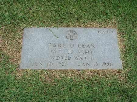LEAR (VETERAN WWII), EARL D - Pulaski County, Arkansas | EARL D LEAR (VETERAN WWII) - Arkansas Gravestone Photos