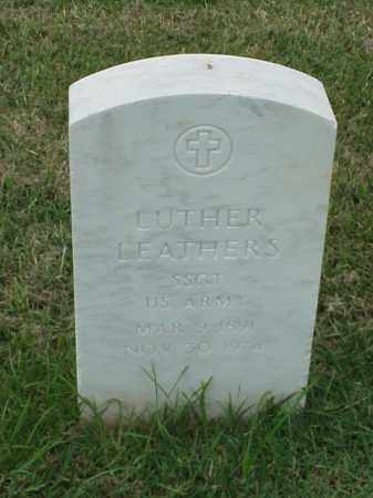 LEATHERS (VETERAN), LUTHER - Pulaski County, Arkansas | LUTHER LEATHERS (VETERAN) - Arkansas Gravestone Photos