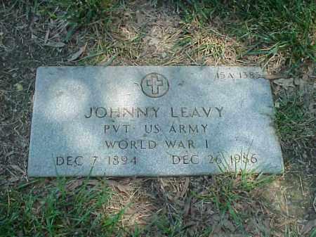 LEAVY (VETERAN WWI), JOHNNY - Pulaski County, Arkansas | JOHNNY LEAVY (VETERAN WWI) - Arkansas Gravestone Photos