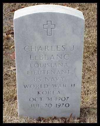 LEBLANC (VETERAN  2 WARS), CHARLES JOSEPH - Pulaski County, Arkansas | CHARLES JOSEPH LEBLANC (VETERAN  2 WARS) - Arkansas Gravestone Photos
