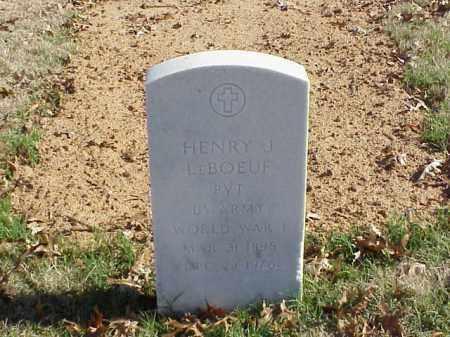 LEBOEUF (VETERAN WWI), HENRY J - Pulaski County, Arkansas | HENRY J LEBOEUF (VETERAN WWI) - Arkansas Gravestone Photos