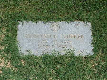 LEDERER (VETERAN WWII), HOWARD H - Pulaski County, Arkansas | HOWARD H LEDERER (VETERAN WWII) - Arkansas Gravestone Photos
