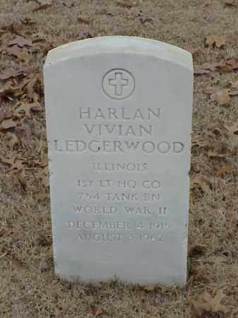 LEDGERWOOD (VETERAN WWII), HARLAN VIVIAN - Pulaski County, Arkansas | HARLAN VIVIAN LEDGERWOOD (VETERAN WWII) - Arkansas Gravestone Photos