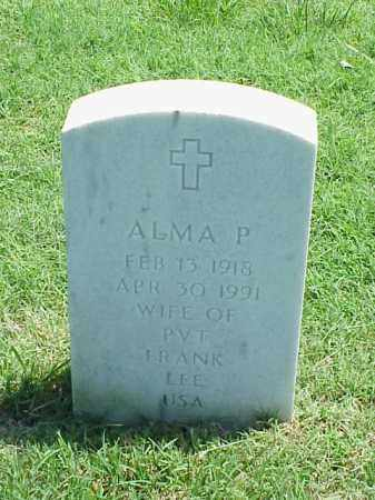LEE, ALMA P - Pulaski County, Arkansas | ALMA P LEE - Arkansas Gravestone Photos