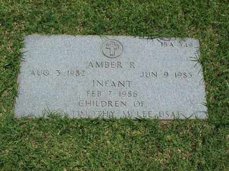 LEE, AMBER R - Pulaski County, Arkansas | AMBER R LEE - Arkansas Gravestone Photos