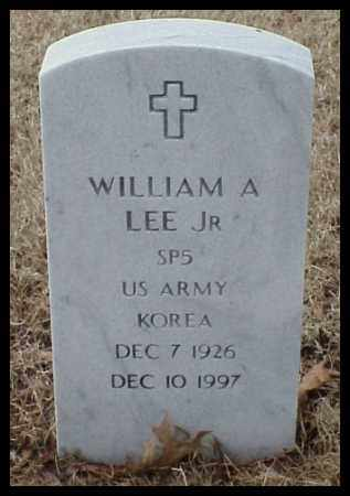 LEE,  JR (VETERAN KOR), WILLIAM A - Pulaski County, Arkansas | WILLIAM A LEE,  JR (VETERAN KOR) - Arkansas Gravestone Photos