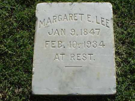 LEE, MARGARET E - Pulaski County, Arkansas | MARGARET E LEE - Arkansas Gravestone Photos