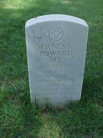 LEE (VETERAN 2 WARS), ERNEST EDWARD - Pulaski County, Arkansas | ERNEST EDWARD LEE (VETERAN 2 WARS) - Arkansas Gravestone Photos