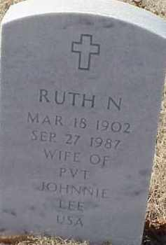 LEE, RUTH N. - Pulaski County, Arkansas | RUTH N. LEE - Arkansas Gravestone Photos