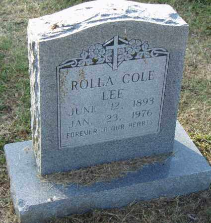 COLE LEE, ROLLA - Pulaski County, Arkansas | ROLLA COLE LEE - Arkansas Gravestone Photos