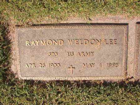 LEE (VETERAN), RAYMOND WELDON - Pulaski County, Arkansas | RAYMOND WELDON LEE (VETERAN) - Arkansas Gravestone Photos