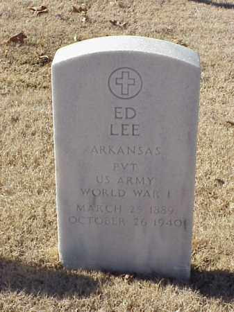LEE (VETERAN WWI), ED - Pulaski County, Arkansas | ED LEE (VETERAN WWI) - Arkansas Gravestone Photos