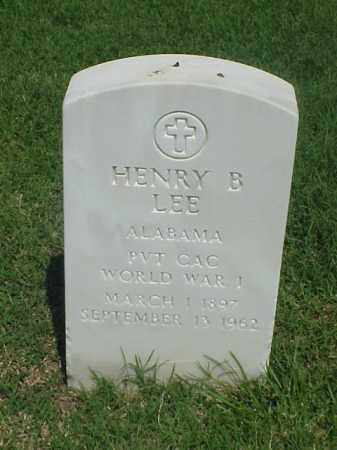 LEE (VETERAN WWI), HENRY B - Pulaski County, Arkansas | HENRY B LEE (VETERAN WWI) - Arkansas Gravestone Photos