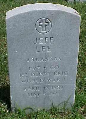 LEE (VETERAN WWI), JEFF - Pulaski County, Arkansas | JEFF LEE (VETERAN WWI) - Arkansas Gravestone Photos