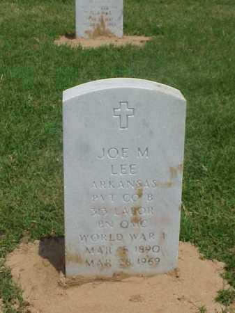 LEE (VETERAN WWI), JOE M - Pulaski County, Arkansas | JOE M LEE (VETERAN WWI) - Arkansas Gravestone Photos
