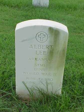 LEE (VETERAN WWII), ALBERT - Pulaski County, Arkansas | ALBERT LEE (VETERAN WWII) - Arkansas Gravestone Photos