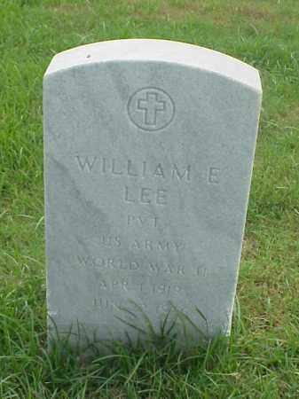 LEE (VETERAN WWII), WILLIAM E - Pulaski County, Arkansas | WILLIAM E LEE (VETERAN WWII) - Arkansas Gravestone Photos