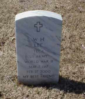 LEE (VETERAN WWII), W H - Pulaski County, Arkansas | W H LEE (VETERAN WWII) - Arkansas Gravestone Photos