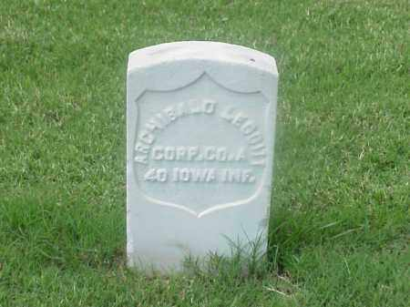 LEGGITT (VETERAN UNION), ARCHIBALD - Pulaski County, Arkansas | ARCHIBALD LEGGITT (VETERAN UNION) - Arkansas Gravestone Photos