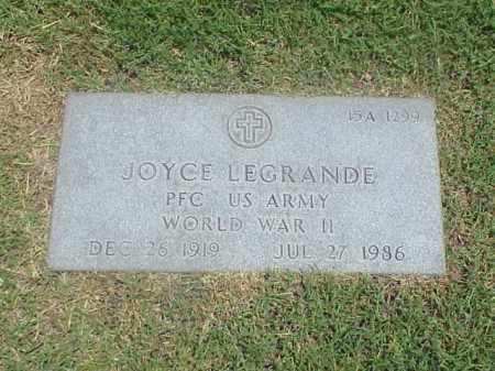 LEGRANDE (VETERAN WWII), JOYCE - Pulaski County, Arkansas | JOYCE LEGRANDE (VETERAN WWII) - Arkansas Gravestone Photos