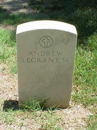 LEGRANT, SR (VETERAN WWI), ANDREW - Pulaski County, Arkansas | ANDREW LEGRANT, SR (VETERAN WWI) - Arkansas Gravestone Photos
