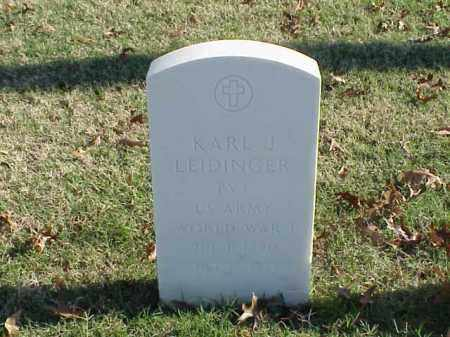 LEIDINGER (VETERAN WWI), KARL J - Pulaski County, Arkansas | KARL J LEIDINGER (VETERAN WWI) - Arkansas Gravestone Photos