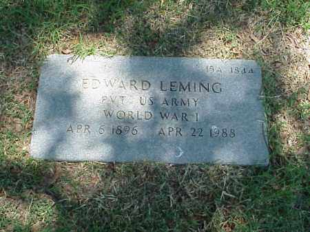LEMING (VETERAN WWI), EDWARD - Pulaski County, Arkansas | EDWARD LEMING (VETERAN WWI) - Arkansas Gravestone Photos