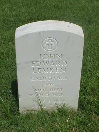 LEMKEN (VETERAN WWI), JOHN EDWARD - Pulaski County, Arkansas | JOHN EDWARD LEMKEN (VETERAN WWI) - Arkansas Gravestone Photos