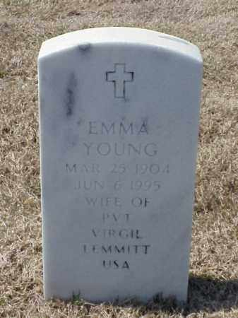 YOUNG LEMMITT, EMMA - Pulaski County, Arkansas | EMMA YOUNG LEMMITT - Arkansas Gravestone Photos