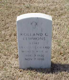 LEMMONS (VETERAN WWII), ROLLAND C - Pulaski County, Arkansas | ROLLAND C LEMMONS (VETERAN WWII) - Arkansas Gravestone Photos