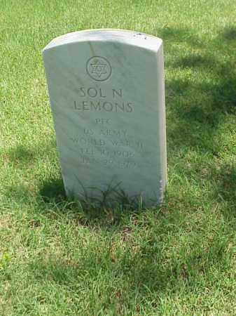 LEMONS (VETERAN WWII), SOL N - Pulaski County, Arkansas | SOL N LEMONS (VETERAN WWII) - Arkansas Gravestone Photos
