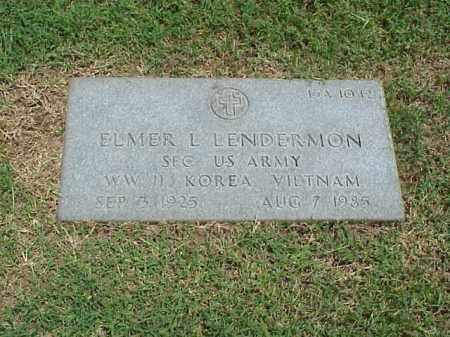 LENDERMON (VETERAN 3 WARS), ELMER L - Pulaski County, Arkansas | ELMER L LENDERMON (VETERAN 3 WARS) - Arkansas Gravestone Photos