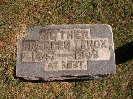 LENOX, FRANCES - Pulaski County, Arkansas | FRANCES LENOX - Arkansas Gravestone Photos