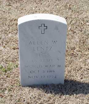 LENTZ (VETERAN WWII), ALLEN W - Pulaski County, Arkansas | ALLEN W LENTZ (VETERAN WWII) - Arkansas Gravestone Photos