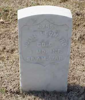 LEONARD  (VETERAN SAW), JOHN - Pulaski County, Arkansas | JOHN LEONARD  (VETERAN SAW) - Arkansas Gravestone Photos