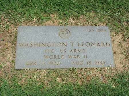 LEONARD (VETERAN WWII), WASHINGTON T - Pulaski County, Arkansas | WASHINGTON T LEONARD (VETERAN WWII) - Arkansas Gravestone Photos