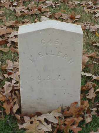 LERN (VETERAN CSA), J E - Pulaski County, Arkansas | J E LERN (VETERAN CSA) - Arkansas Gravestone Photos
