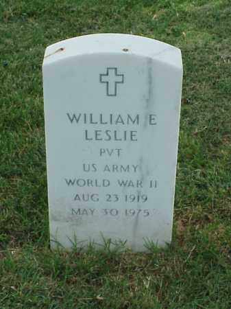 LESLIE (VETERAN WWII), WILLIAM E - Pulaski County, Arkansas | WILLIAM E LESLIE (VETERAN WWII) - Arkansas Gravestone Photos