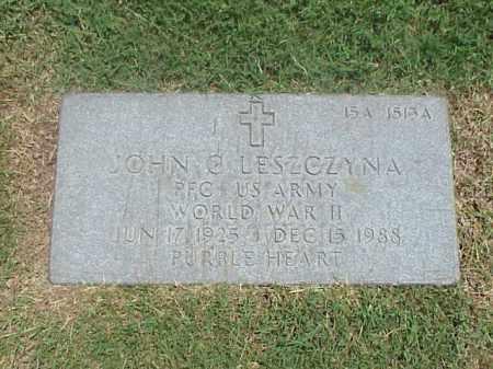 LESZCZYNA (VETERAN WWII), JOHN C - Pulaski County, Arkansas | JOHN C LESZCZYNA (VETERAN WWII) - Arkansas Gravestone Photos